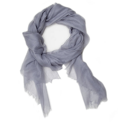 100% Cashmere Feather Light Scarf/Shawl North Sea