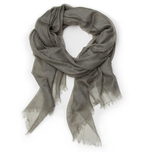 100% Cashmere Feather Light Scarf/Shawl Olive