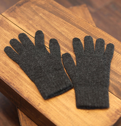 Touchscreen 100% Cashmere Gloves Dark Grey