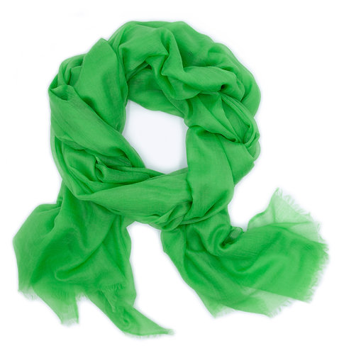 100% Cashmere Feather Light Scarf/Shawl Lime