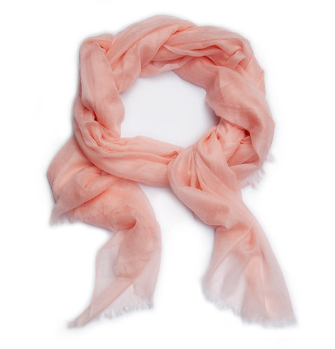 100% Cashmere Feather Light Scarf/Shawl Rosé