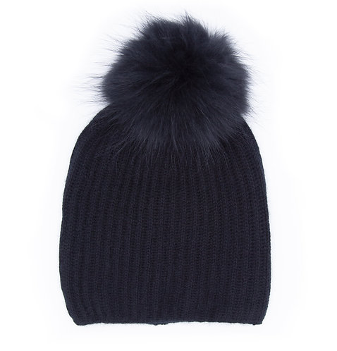 Extra Warm Cashmere Hat Black