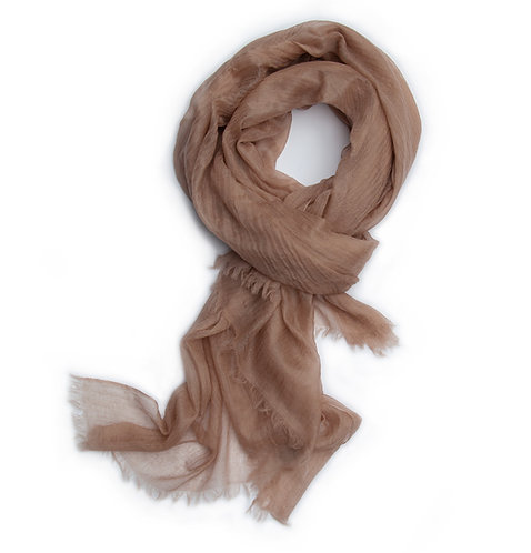 100% Cashmere Feather Light Scarf/Shawl Latte