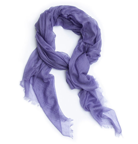 100% Cashmere Feather Light Scarf/Shawl Lavender