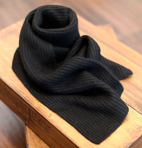 Thick & Warm 100% Cashmere Winter Scarf Black