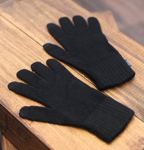 Touchscreen 100% Cashmere Gloves Black