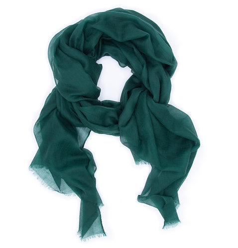 100% Cashmere Feather Light Scarf/Shawl Emerald