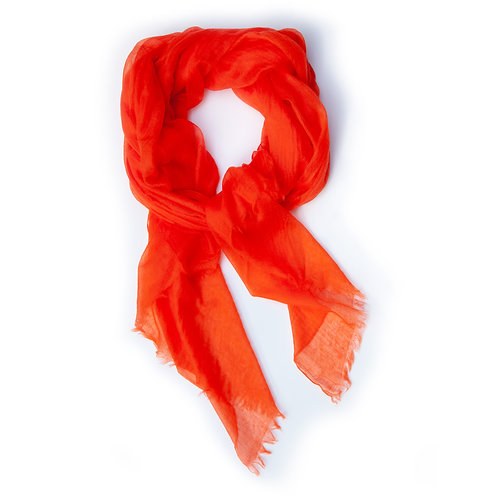 100% Cashmere Light Scarf Shawl Flame