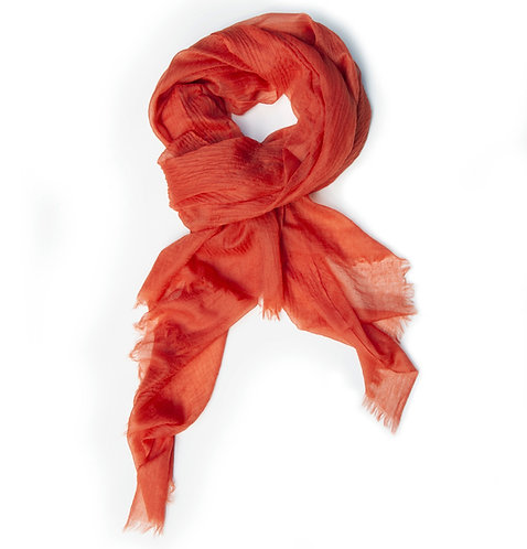 100% Cashmere Feather Light Scarf/Shawl Brick