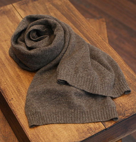 Thin 100% Cashmere Scarf Brown