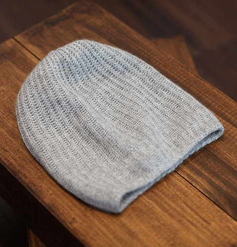 Extra Warm Cashmere Hat Light Grey