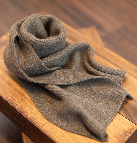 Thick & Warm 100% Cashmere Winter Scarf Brown