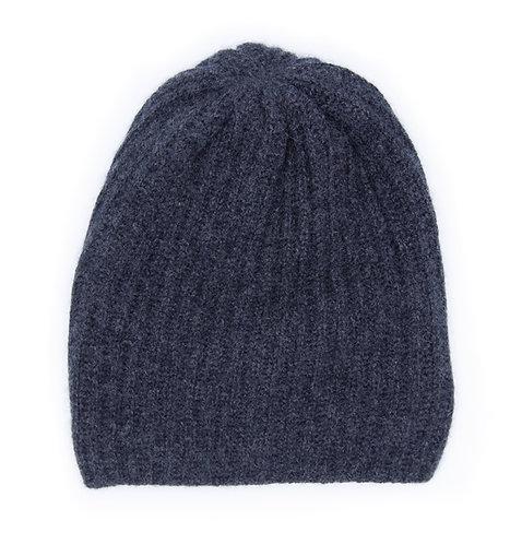 Extra Warm Cashmere Hat Dark Grey