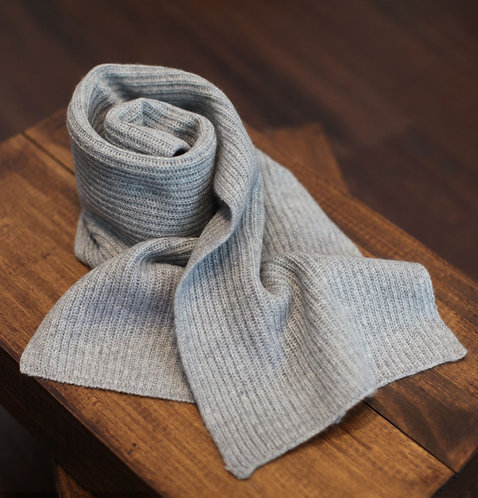 Thick & Warm 100% Cashmere Winter Scarf Light Grey