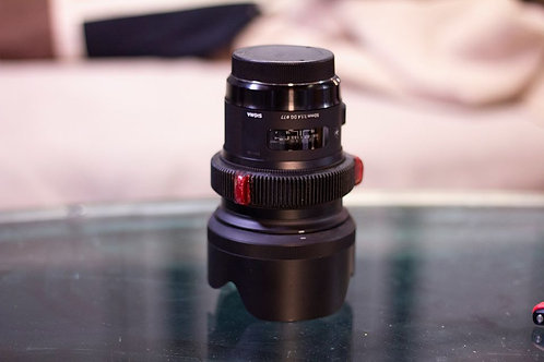 Sigma Art 50mm F/1.4 DG EF Lens Kit w/ Cine Hardstop Mod