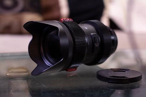 Sigma Art 18-35mm F/1.8 DC EF Lens w/ Cine Hard-Stop Modded Focus Gear