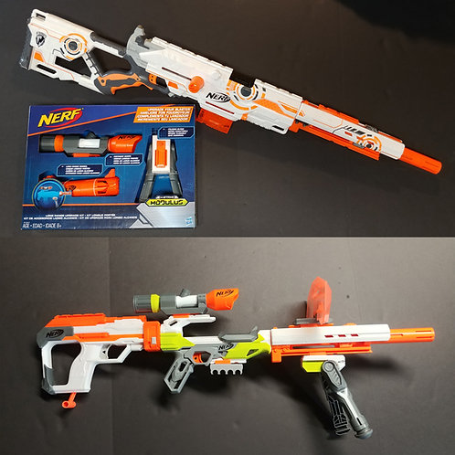 NERF Whiteout/Modulus Longstrike + Ion Sniper Duel Kit