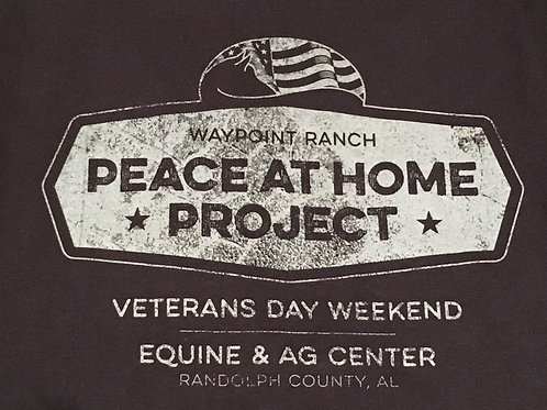 Black Long Sleeve T-Shirt - Peace at Home Project Veterans Weekend 2017
