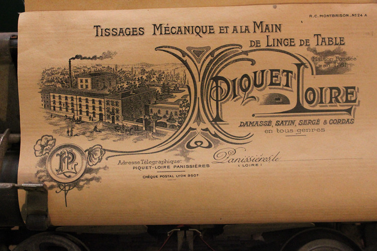 Papie en-tête usine Loire-Piquet