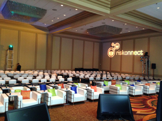 Conference Seating with Accent Color