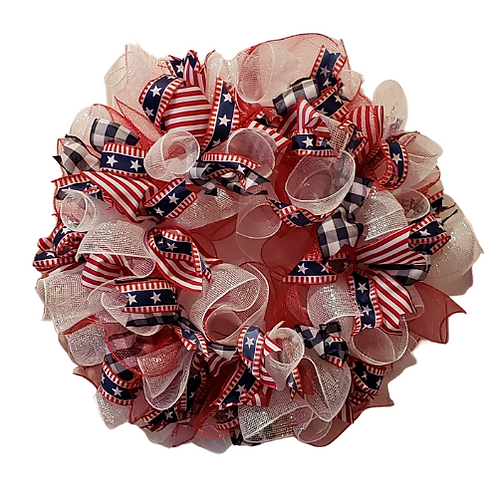 "Handmade 26"" Americana Wreath"