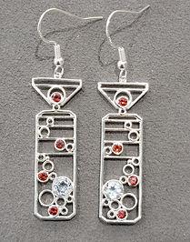 Sterling silver designer garnet and colorless topaz earrings gift for her_edited.jpg