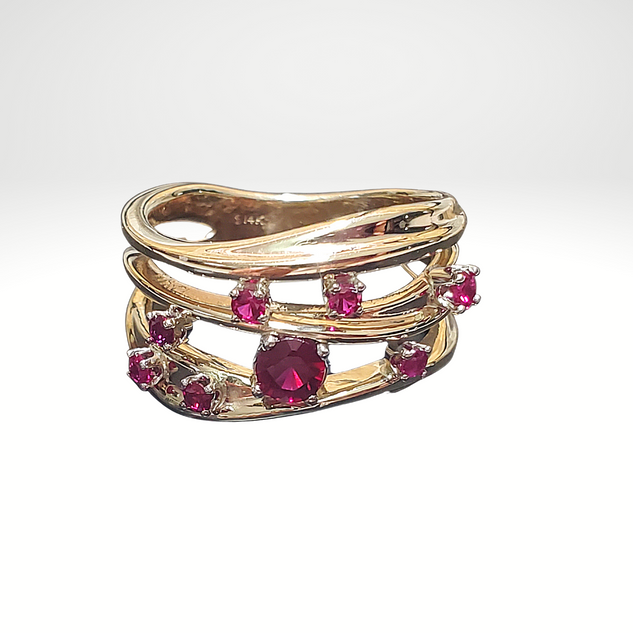 Repurposed Ring with rubies