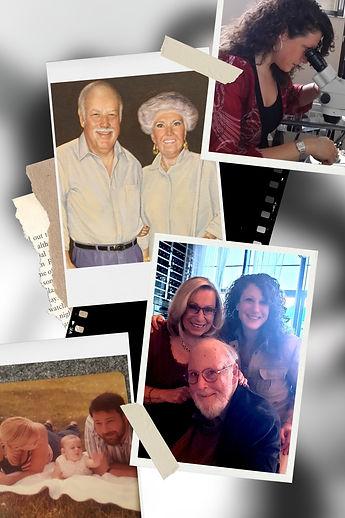 Family, grandparents, mom, dad, me