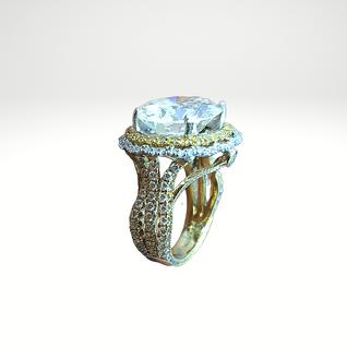 Custom Designed Diamond Halo engagement ring