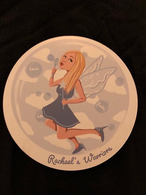 "Rachael Warrior Foundation car magnet  - 4 "" diameter"