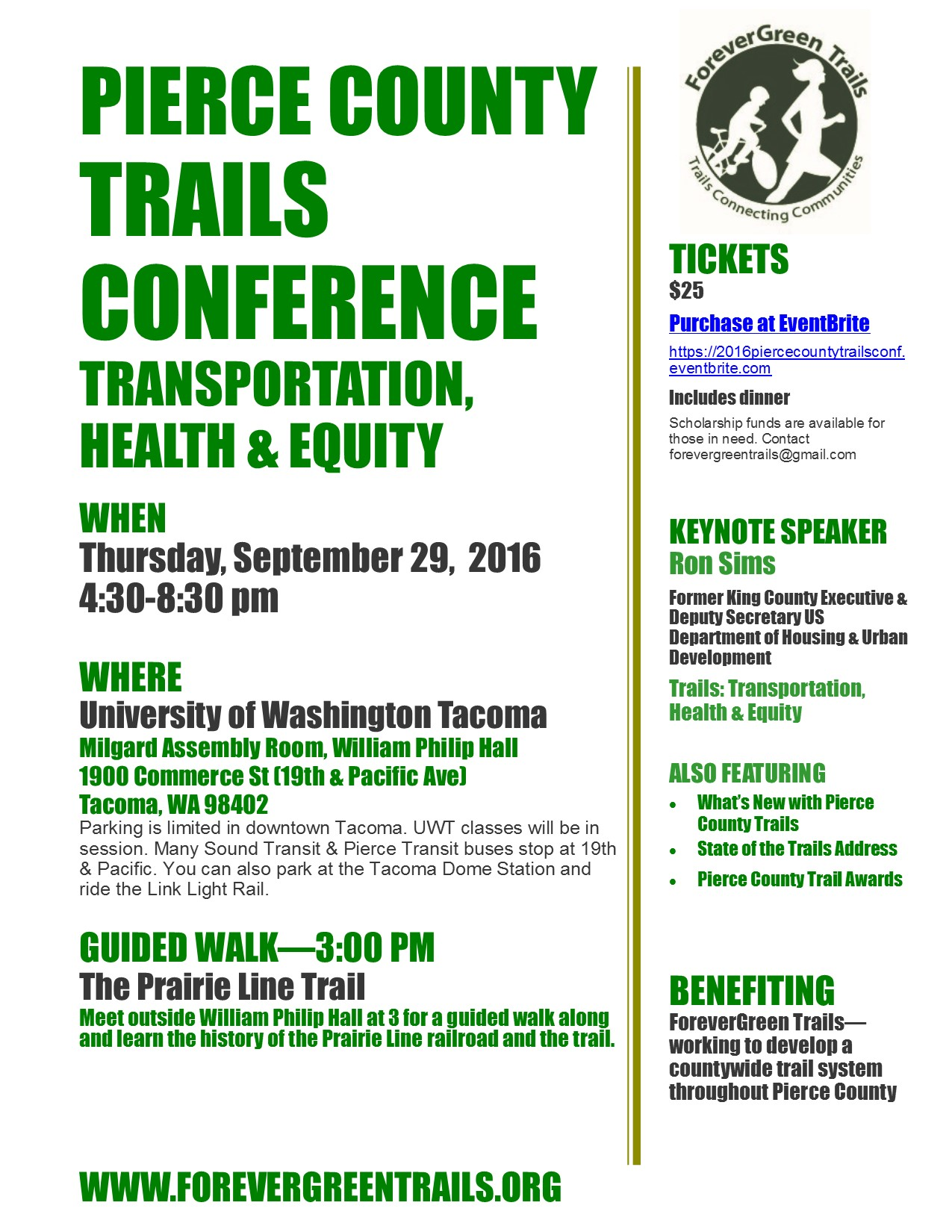 2016 Pierce County Trails Conference | ForeverGreen Trails