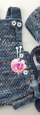 merino overalls w easy nappy changes & w accessories