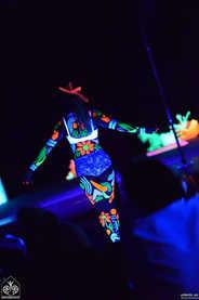 uv bodyart dancer artist rach kando