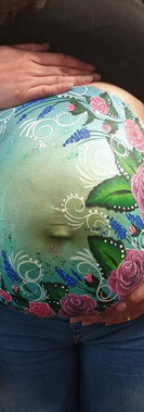 kando entertainment baby bump painting