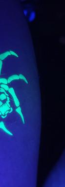 kando airbrushing uv ink tattoo - blacklight