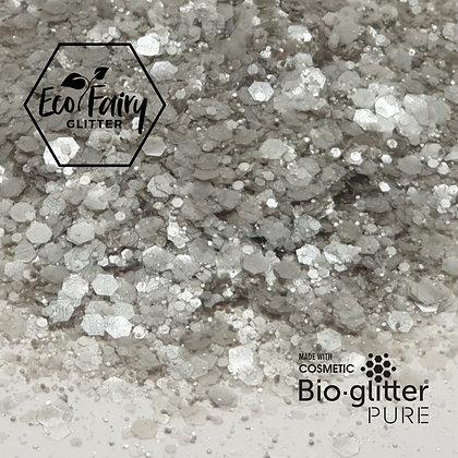 EcoFairy Silver Mix Biodegradable Pure Glitter