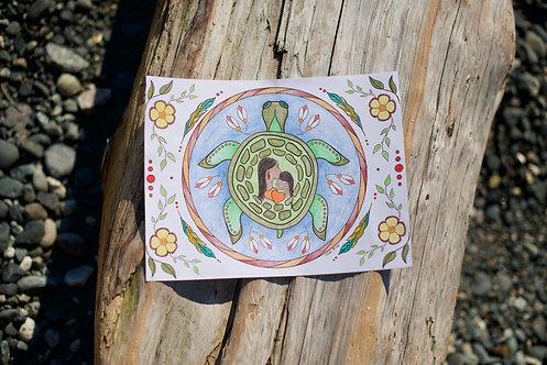 FREE Turtle Island Colouring Sheet