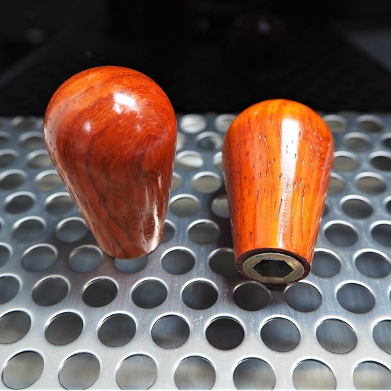 Control Knob in Paduk Wood - A set of 2