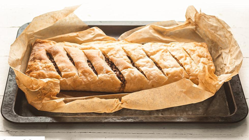 Vegan Gluten FreeVegan puff pastry Wellington for 6 people Loaf
