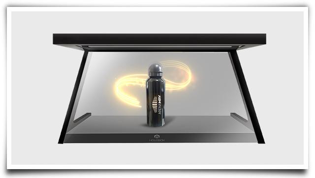 PDV holográfico com um squeeze para a Arena MRV