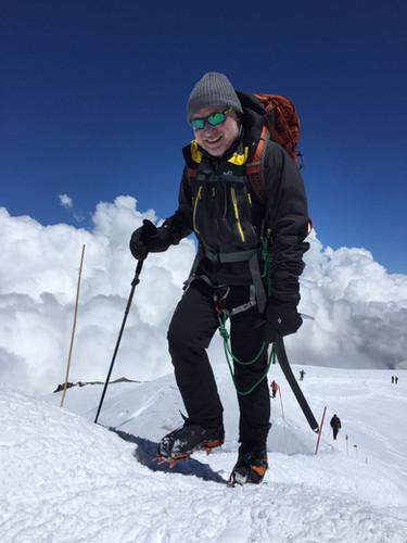 LTC CEO Konstantin Sidorov climbing Peak Lenina