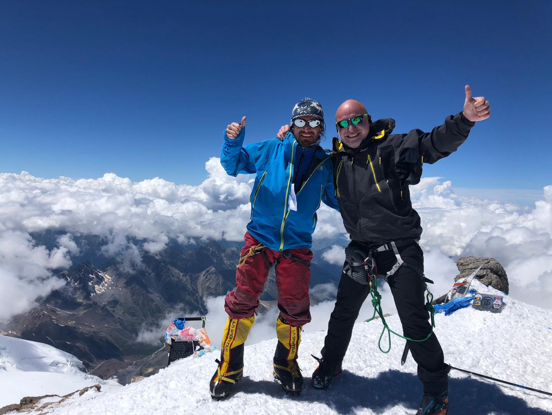 Konstantin climbing Peak Lenina