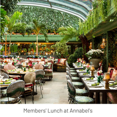 LTC Members' Lunch at Annabel's