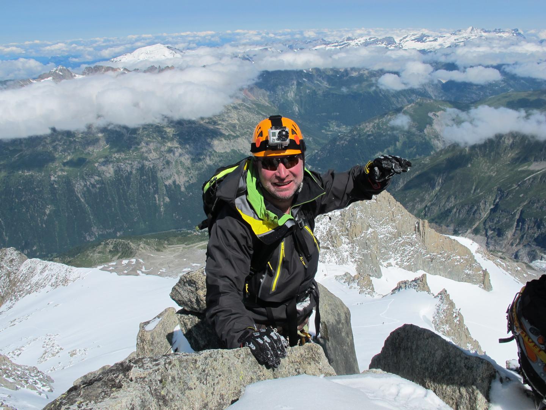 Konstantin climbing Mont Blanc