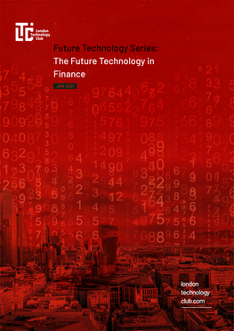 Future Technology Series - Finance Report