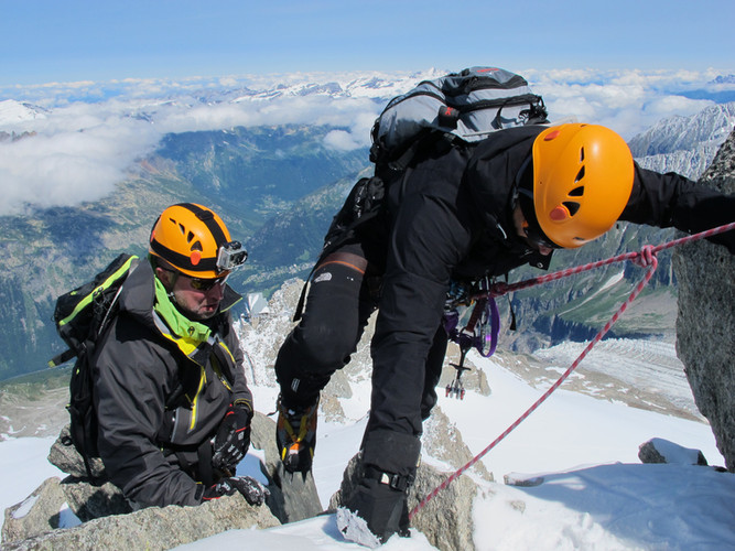 LTC CEO Konstantin Sidorov climbing Mont Blanc