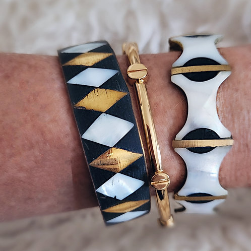 MOP and Brass Inlaid Bangles