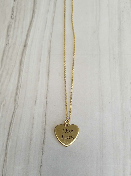 One Love Heart Charm