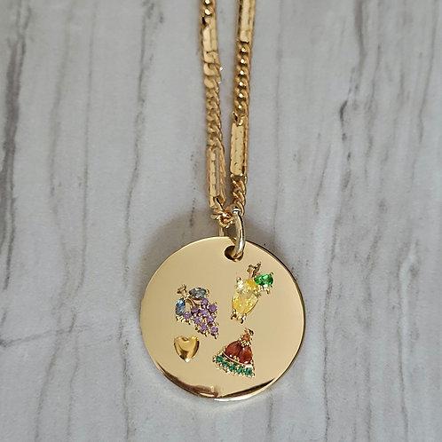 Fruit Bowl Charm Necklace