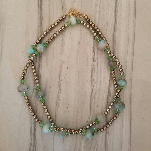 Pyrite Tanzanite Necklace